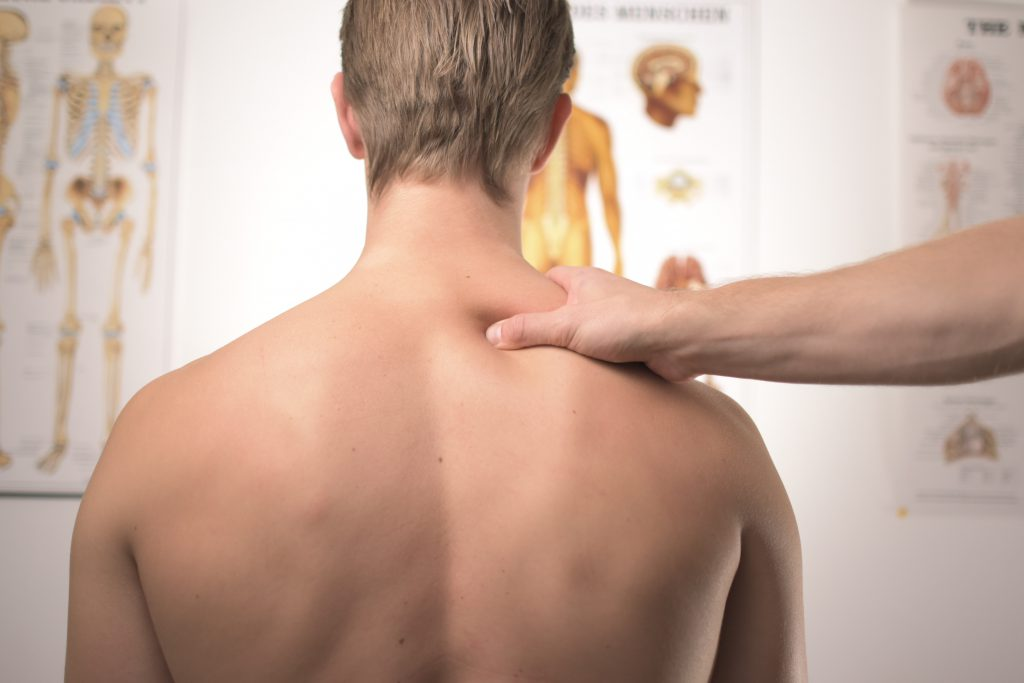 Neck and Shoulder Massage Physiotherapy for Strained Muscles