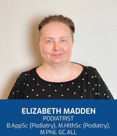 Profile Photo: Liz is a Brisbane Podiatrist with a focus on musculoskeletal conditions affecting the foot and leg