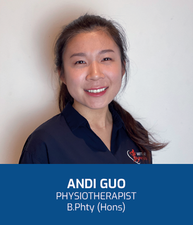 Profile Photo: Andi is a physiotherapist in Brisbane with a special interest in paediatrics and sports physiotherapy